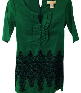 Tabitha Simmons short dress Green, Navy Blue on Tradesy