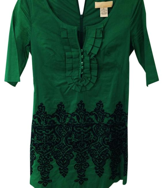 Item - Green Navy Blue Above Knee Short Casual Dress Size 0 (XS)
