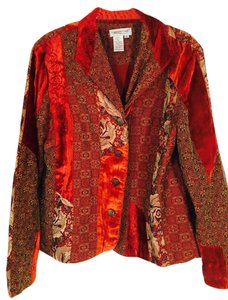 Coldwater Creek Lined 4 Button Closure Comfortable Top MULTI