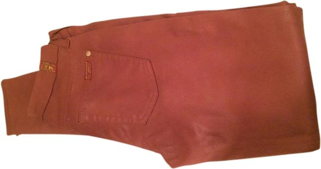 Item - Dusty Rose Coated Seven Skinny Jeans Size 24 (0, XS)