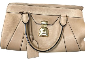 Lauren Ralph Lauren Pockets Zipper Dust Satchel in tan
