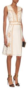 Diane von Furstenberg Gold Embroidered Dress