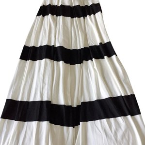 Nadia Tarr Maxi Skirt Black and white