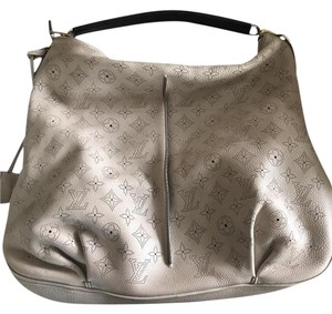 Louis Vuitton Babylone Mahina Neutral Color Hobo Bag