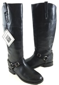 Frye Leather Harness Tall Black Boots