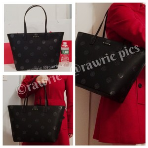 Kate Spade Oversized Large Tote Shimmery Black Travel Bag