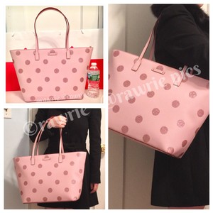 Kate Spade Oversized Large Tote Shimmery Pink Travel Bag