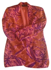 Andrea Jovine Floral Silk Pink, Purple, Orange Jacket