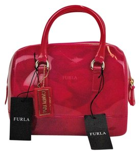 Furla Hangtag Jelly Tote in Pink