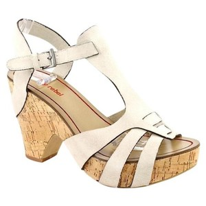 Luxury Rebel Cream Platforms