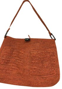 Annabel Ingall Raffia Two Pockets Tote in Orange