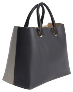 Chloé Chloe Leather Tote in Black/Grey