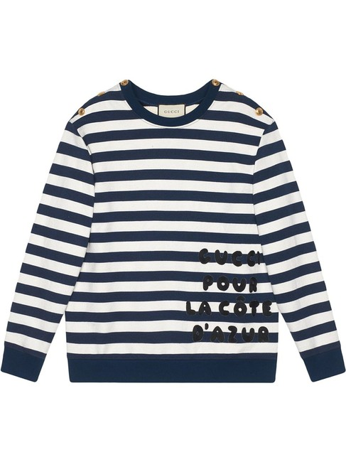 Item - Blue and White 572813 Small Cotton with Logo Patch Sweatshirt/Hoodie Size 4 (S)