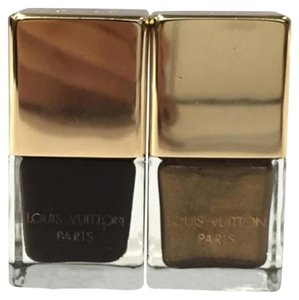 Louis Vuitton Louis Vuitton Damier Ebene Brown Gold Nail Polish 1M01