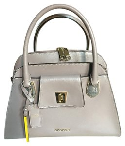 Cromia Satchel in Dark Beige