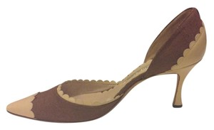 Manolo Blahnik Brown with tan details Pumps