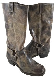 Frye Distressed Leather Chocolate Boots