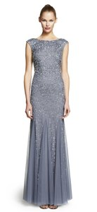 Adrianna Papell Cap Sleeve Embellished Beaded Dress