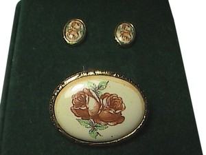 Unknown 1928 Earrings & Brooch Set