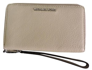Michael Kors Michael Kors Adele Cement Double Zip Large All-In-1 Leather Wallet NWT