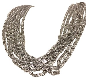 Sarah Coventry Silver Tone Multi Strand Collar Necklace Sarah Coventry