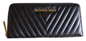 Michael Kors Michael Kors Susannah Black Continental Quilted Leather Wallet NWT