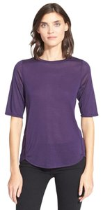 Vince High Low Hem T Shirt Purple rutabaga