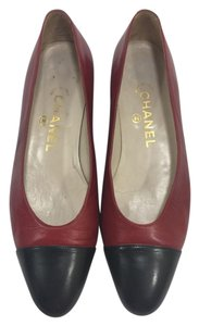 Chanel Cap Toe Ballet Red Flats