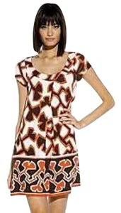 Diane von Furstenberg short dress RED BROWN WHITE on Tradesy