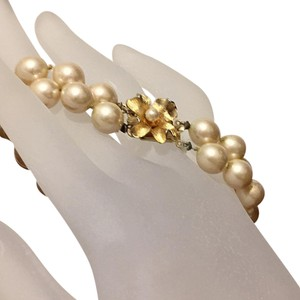 Vendome Vintage Hand Knotted Double Strand Pearl Bracelet