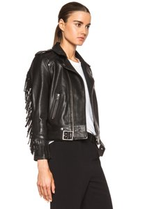 IRO Fringe Leather Moto Leather Jacket