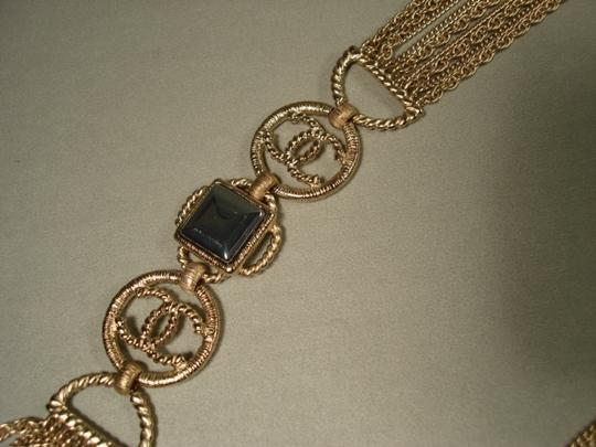 Chanel Chanel Gold Chains Crew CC Triple Strand Long Necklace Belt NEW Dore Image 10