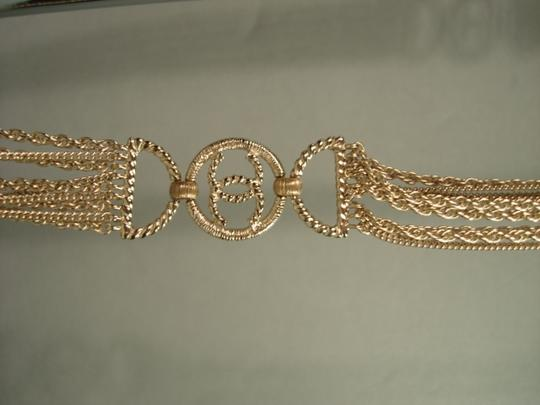 Chanel Chanel Gold Chains Crew CC Triple Strand Long Necklace Belt NEW Dore Image 2