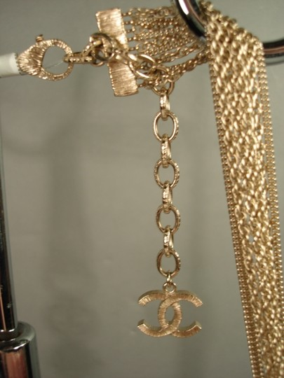 Chanel Chanel Gold Chains Crew CC Triple Strand Long Necklace Belt NEW Dore Image 3