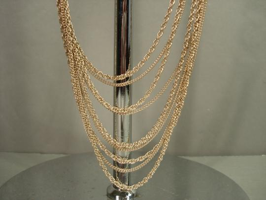 Chanel Chanel Gold Chains Crew CC Triple Strand Long Necklace Belt NEW Dore Image 4