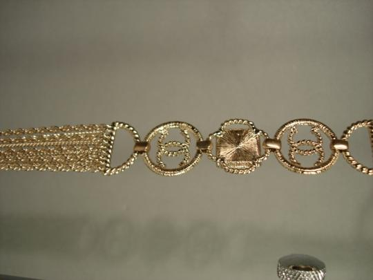 Chanel Chanel Gold Chains Crew CC Triple Strand Long Necklace Belt NEW Dore Image 6