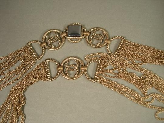 Chanel Chanel Gold Chains Crew CC Triple Strand Long Necklace Belt NEW Dore Image 7