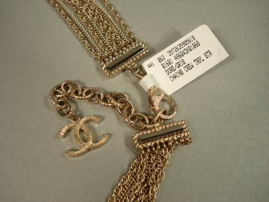 Chanel Chanel Gold Chains Crew CC Triple Strand Long Necklace Belt NEW Dore Image 8