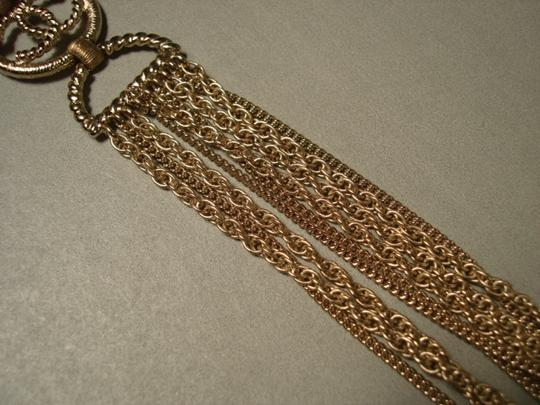 Chanel Chanel Gold Chains Crew CC Triple Strand Long Necklace Belt NEW Dore Image 9