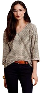 Anthropologie Textured Comfy Dolman Sleeves T Shirt NWT Neutral Print