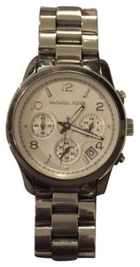 Michael Kors MICHAEL KORS Silver Midsized Chrono Ladies Watch MK5076