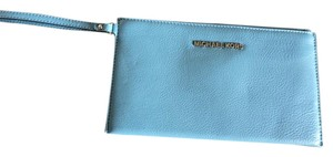 Michael Kors Michael Kors Bedford Sky Leather Large Zip Slim Clutch Wallet NWT