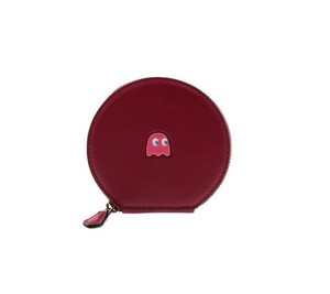 Coach COACH F54871 PACMAN Calf Leather Round Coin Case Limited Edition