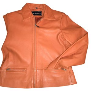 Saguaro Orange like color Leather Jacket
