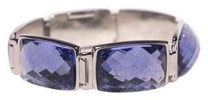 Swarovski Swarovski Crystal Bracelet Swan Signed Statement Blue Purple Art Deco