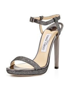 Jimmy Choo Anthracite Wedding Glitter silver Formal