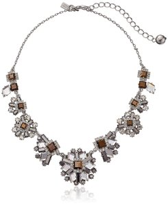Kate Spade Kate Spade New York Space Age Floral Hematite Necklace