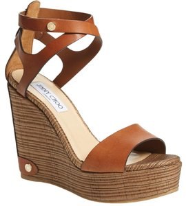 Jimmy Choo Wedge Noelle Platform Nude tan Sandals