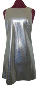 All That Jazz Shiny Metallic Futuristic Holograph Rave Disco Party Dinner Cocktail Dress