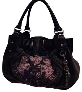 Juicy Couture Satchel in Gray And Black